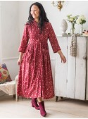 Amaryllis Dress in Cranberry | April Cornell