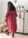 Amaryllis Dress in Cranberry by April Cornell