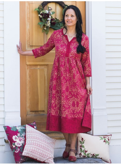 Maybelle Dress in Red by April Cornell