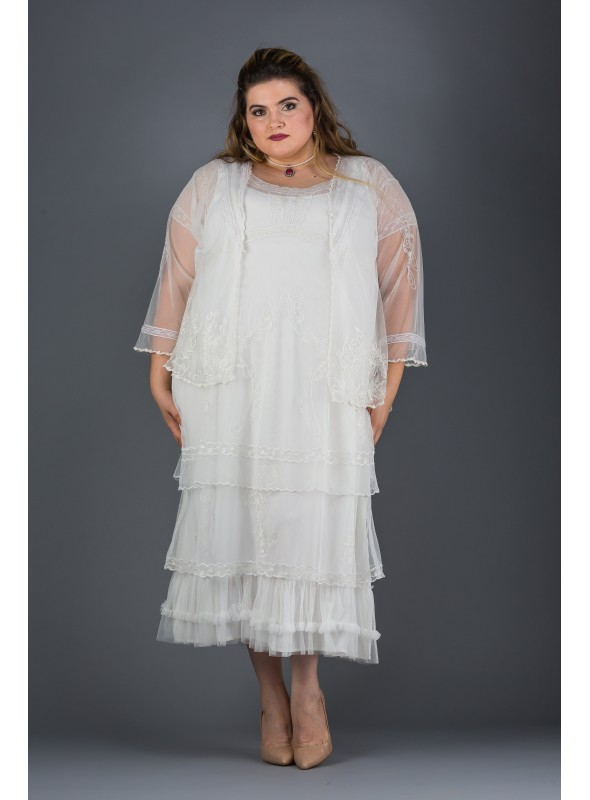 Plus Size Arrianna Dress in Ivory by Nataya