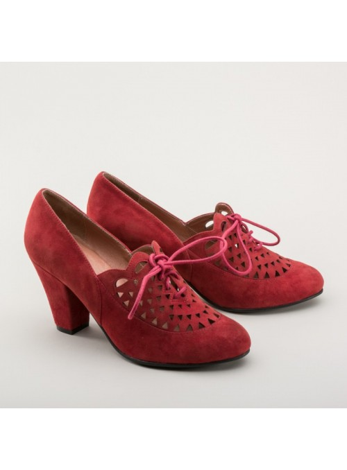 Alice Retro Cutout Oxfords in Carnelian by Royal Vintage Shoes