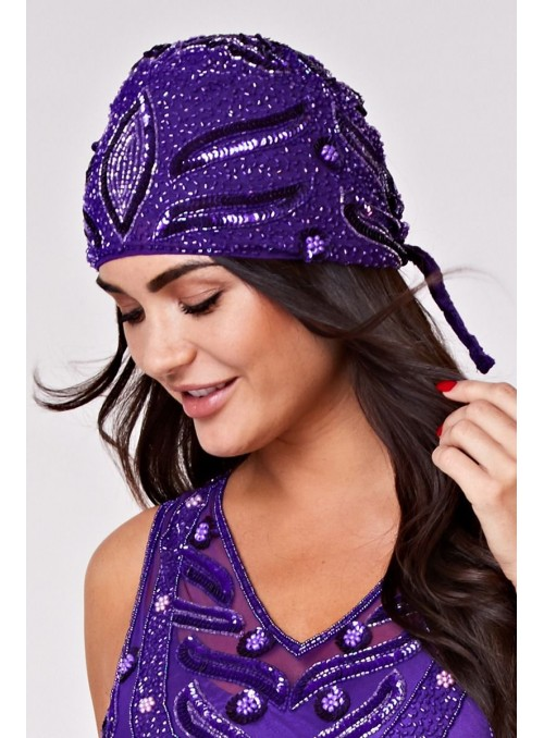 Old Hollywood Cap in Purple