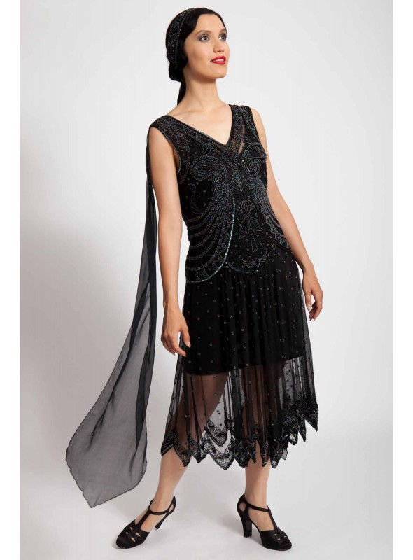 Amelia Dress in Black by Tilda Knopf