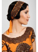 Mabel Headpiece in Orange - SOLD OUT