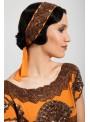 Mabel Headpiece in Orange by Tilda Knopf