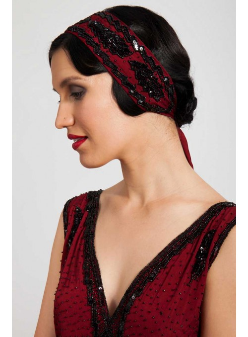 Rubia Headpiece in Red by Tilda Knopf