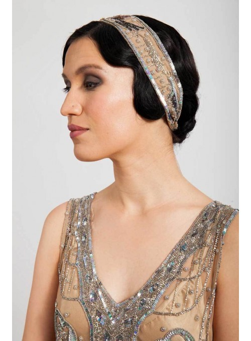 Constance Headpiece in Creme by Tilda Knopf