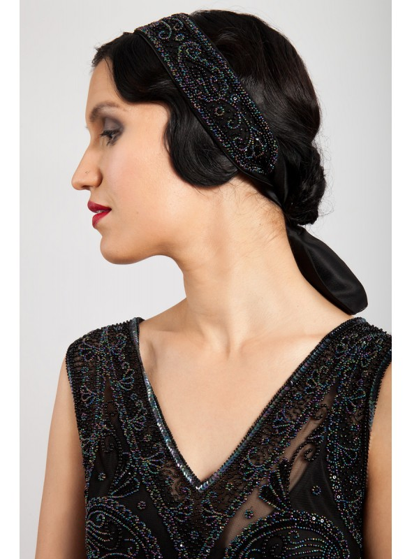 Amelia Hairpiece in Black by Tilda Knopf