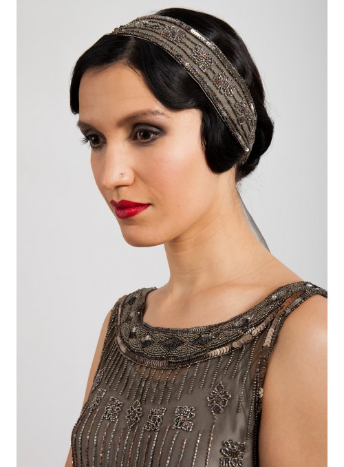 Myrna Headpiece in Grey by Tilda Knopf