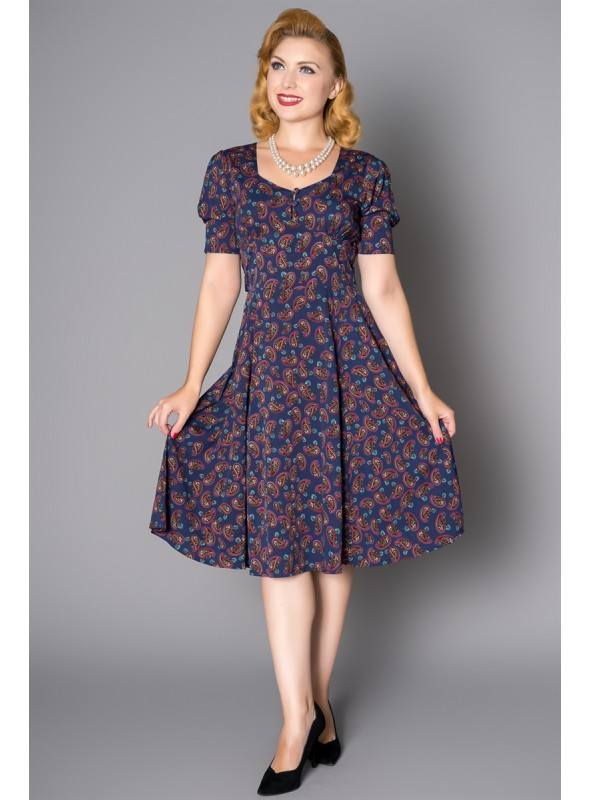 Tea Dress in Navy