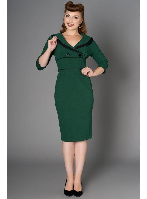 Bettie Dress in Green by Sheen Clothing
