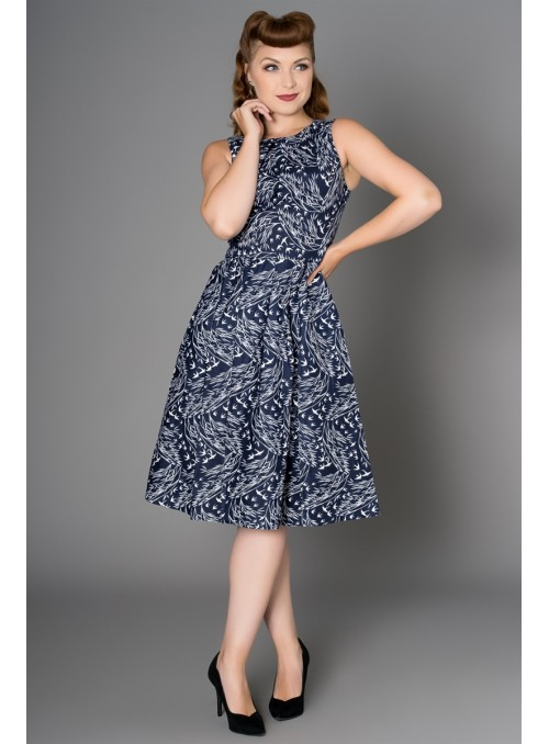 Birdie Dress in Navy by Sheen Clothing