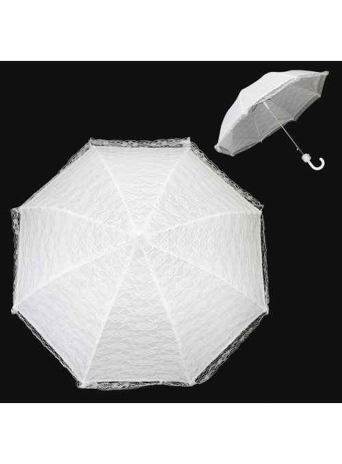 Vintage Inspired Bridal Parasol in White