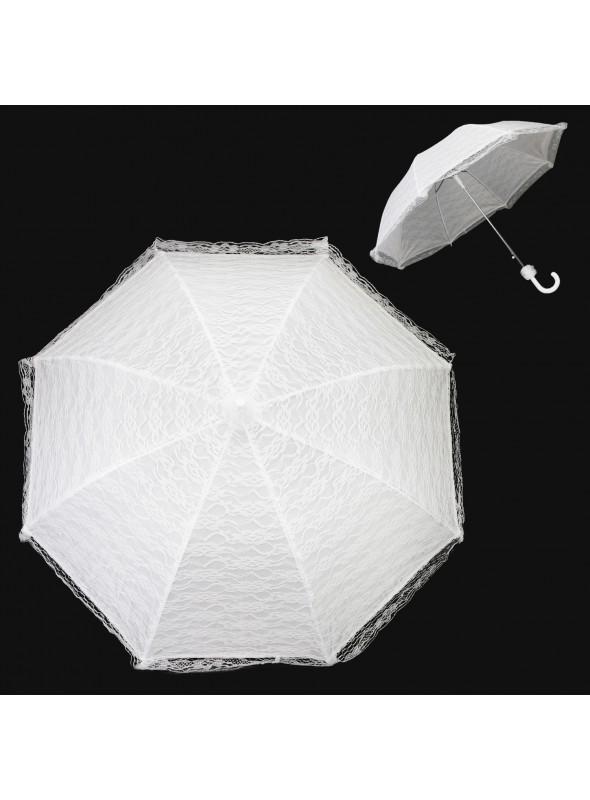 Vintage Inspired Bridal Parasol in White
