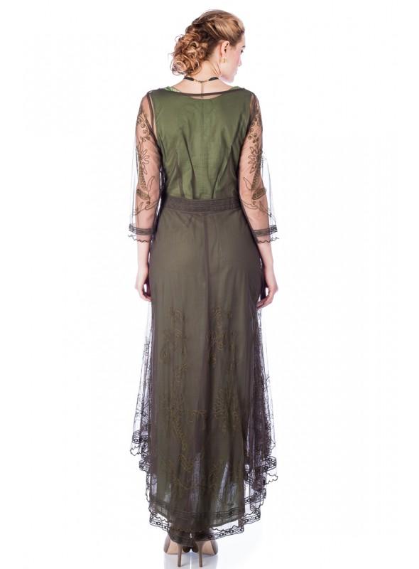 Ida Dress in Wine Spot by The Seamstress Of Bloomsbury
