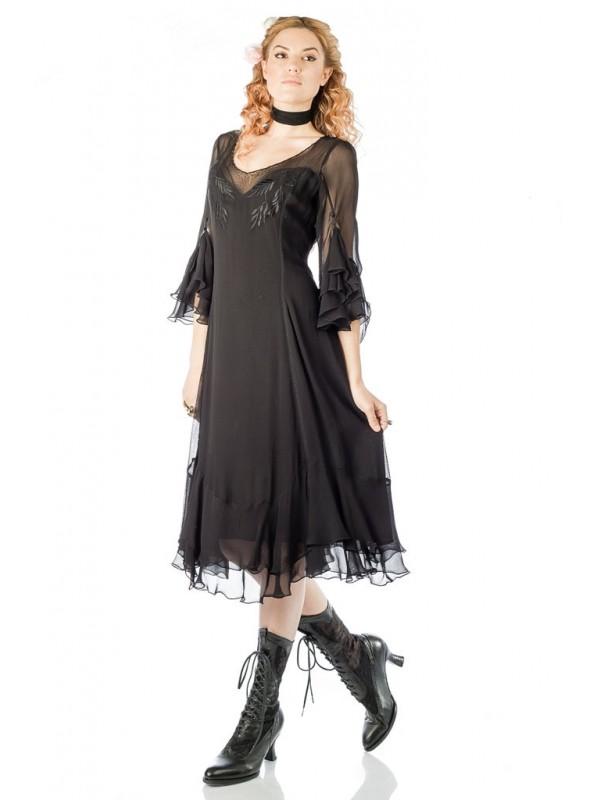 Vintage Inspired Black Dress by Nataya