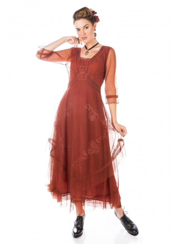 Mary Darling CL-163 Dress in Paprika by Nataya