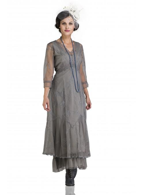 Somewhere in Time Dress in Smoke by Nataya