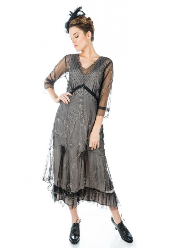 Somewhere in Time Dress in Black by Nataya