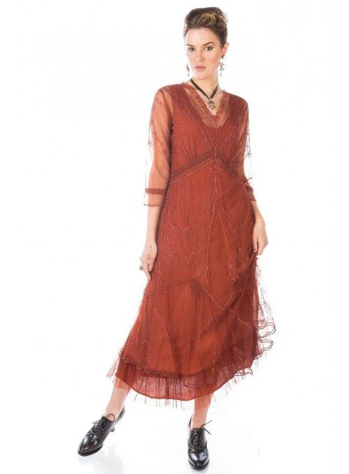 Somewhere in Time Dress in Paprika by Nataya