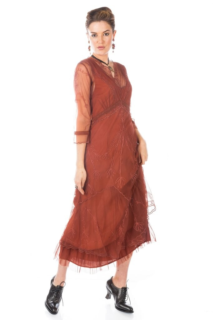 1920s Plus Size Flapper Dresses, Gatsby Dresses, Flapper Costumes 1920s Inspired Evening Maxi Dress in Plum $220.00 AT vintagedancer.com