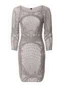 New York Flapper Style Dress in Grey
