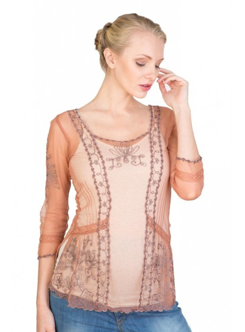 CT-221 Top in Rose/Silver