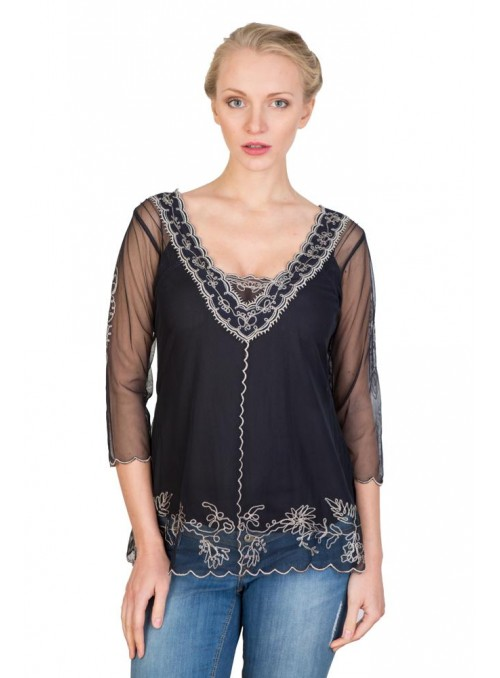 CT-407 Top in Black