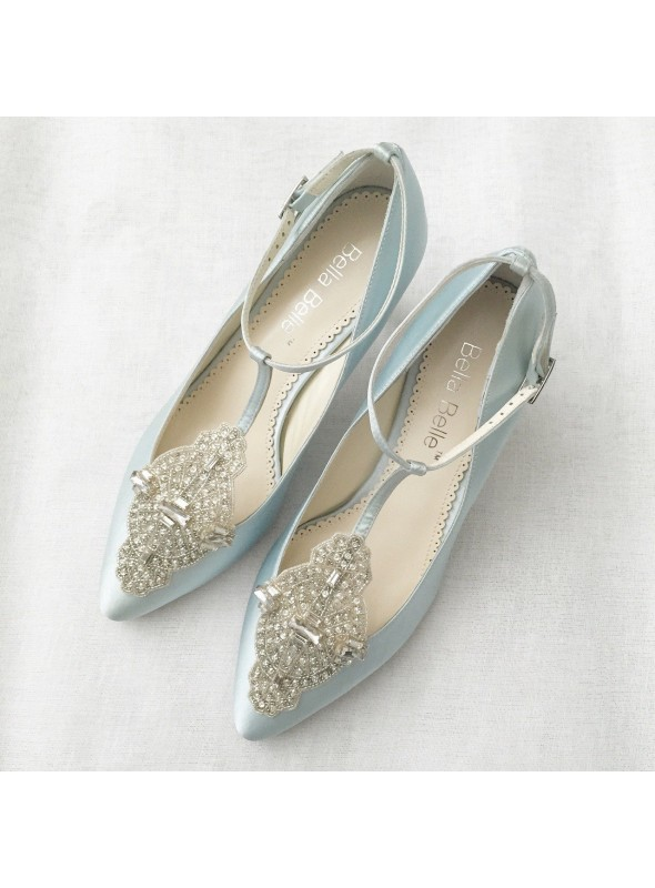 Art Deco Great Gatsby Bridal Shoes in Blue