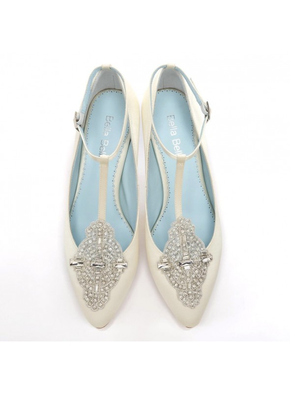 Art Deco Great Gatsby Bridal Shoes in Ivory
