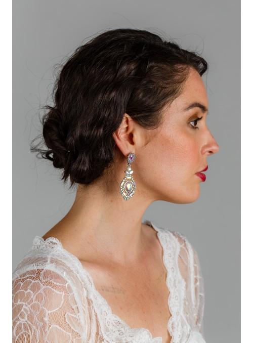 Gatsby Chandelier Earrings in Silver