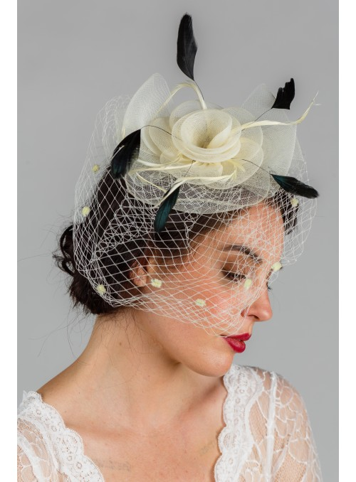 Bonnette 1950s Veil in Ivory