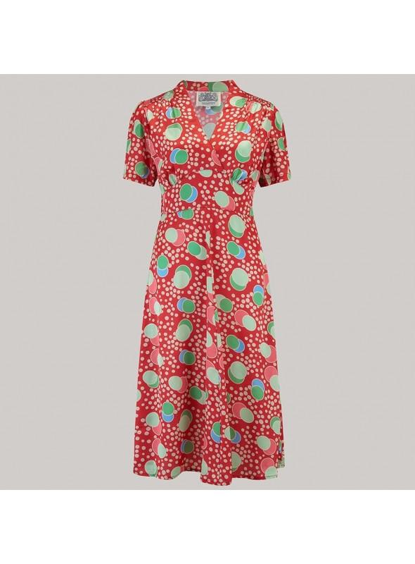 Crawford 1940s Dress in Atomic Print