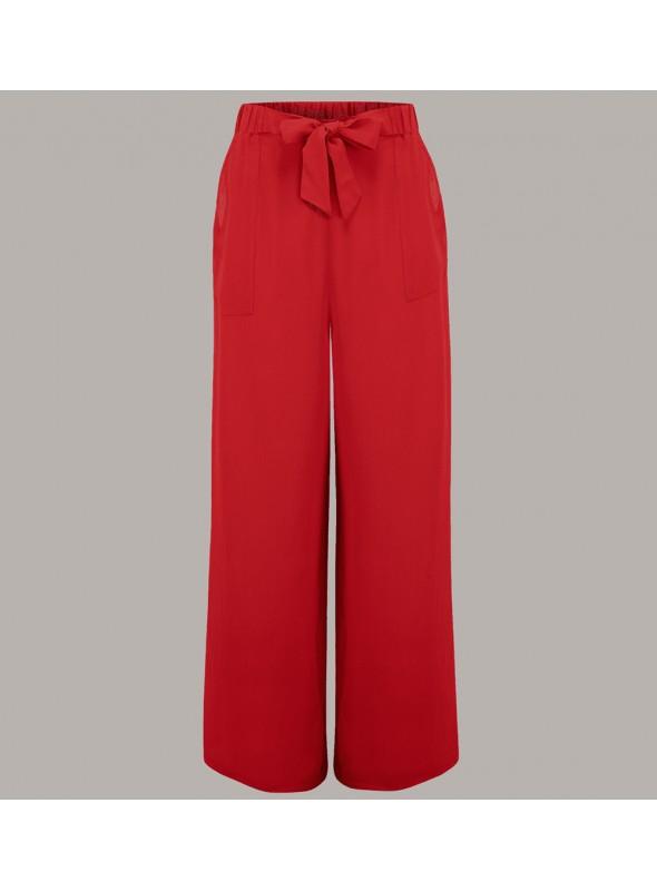 Gretta 1940s Trousers in Red