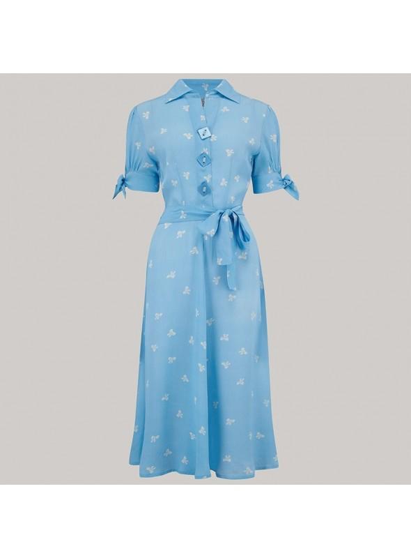 Delores Dress in Blue Moonshine Spots