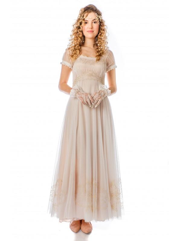 Parisienne Vintage Elegance Wedding Gown in Ivory