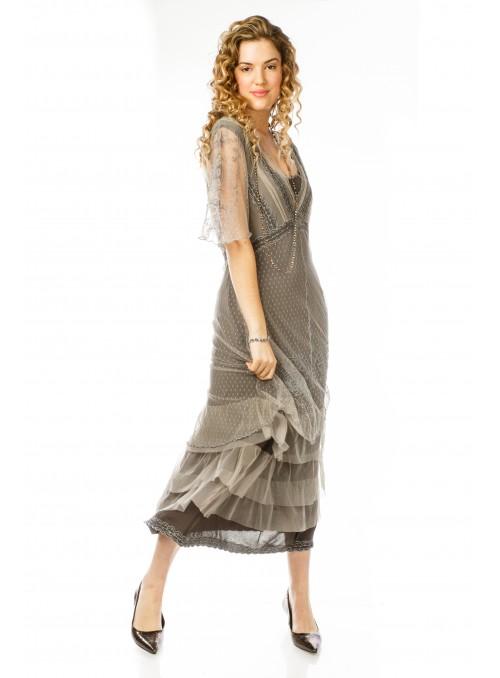 Celine CL-068 Vintage Style Wedding Gown in Black by Nataya