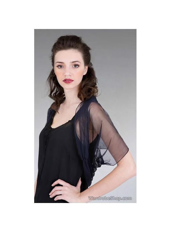 Rouched Tulle Shrug in Red by Nataya - SOLD OUT