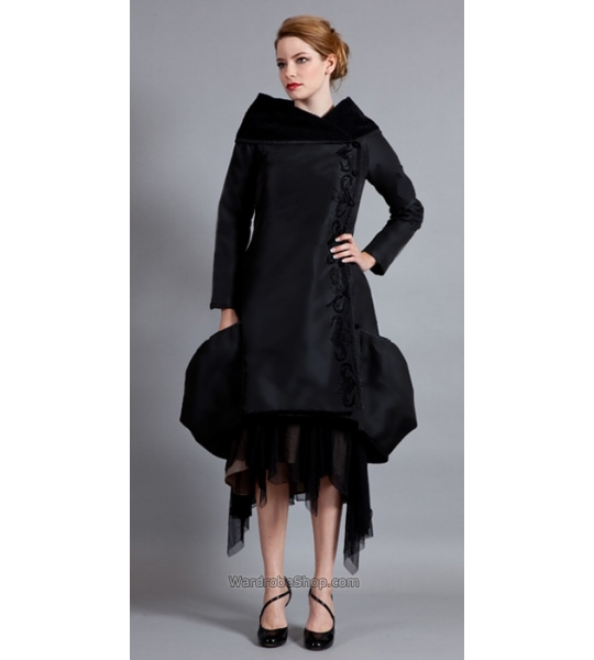 Taffeta Bubbled Jacket in Black by Nataya - SOLD OUT