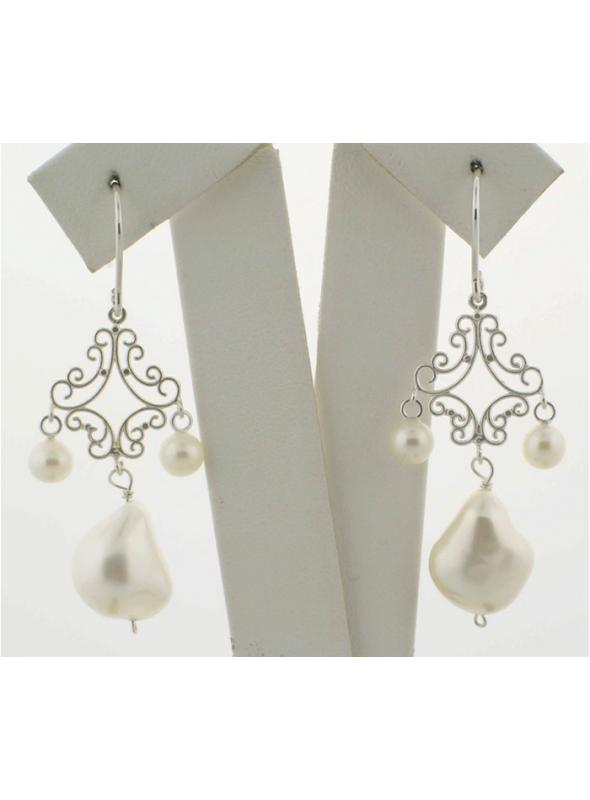 Romantic Drop Pearl Wedding Earrings - SOLD OUT