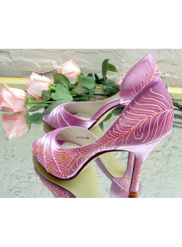 "Peacock style flapper wedding shoes, model ""Deborah"""