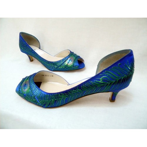 """Flapper style wedding shoes in sapphire, model """"Veronica"""""""