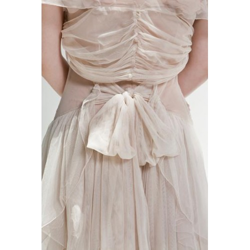 Rouched Tulle Shrug in Blush by Nataya