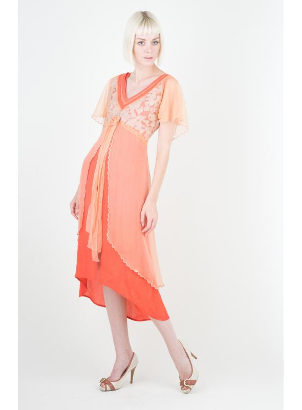 Nataya Summer Coral Dress - 40191