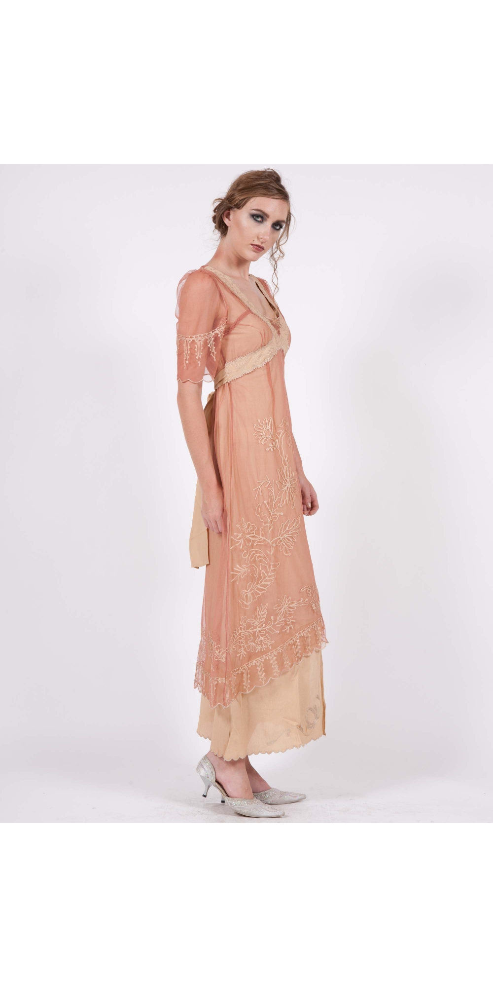 40007 New Vintage Titanic Dress In Rose Gold