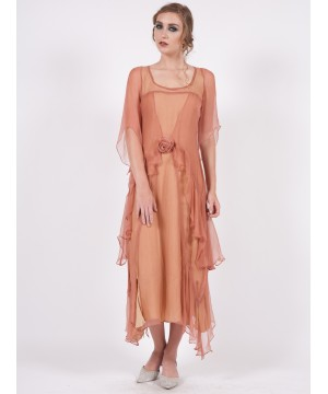 Layered Nataya Dress AL-10709 in Rose/Gold