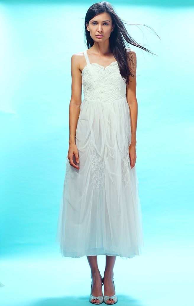 Rose Water Party Dress in Ivory by Nataya