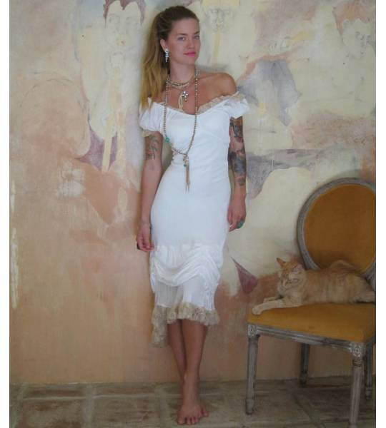 Empire Waist Western Bustier Dress by Marrika Nakk