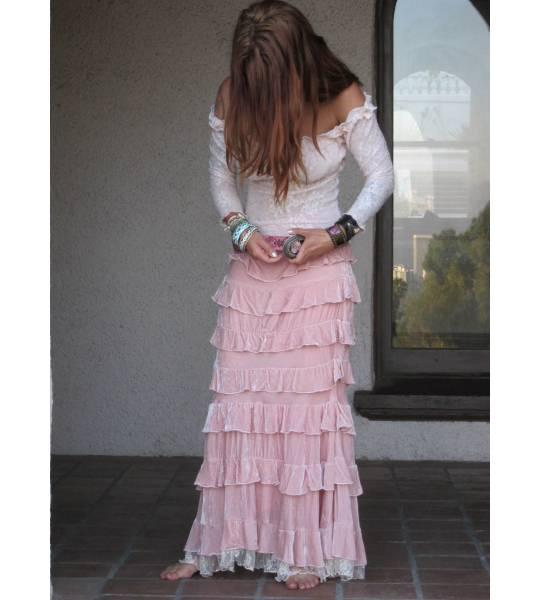 Velvet Princess Skirt in Pink by Marrika Nakk