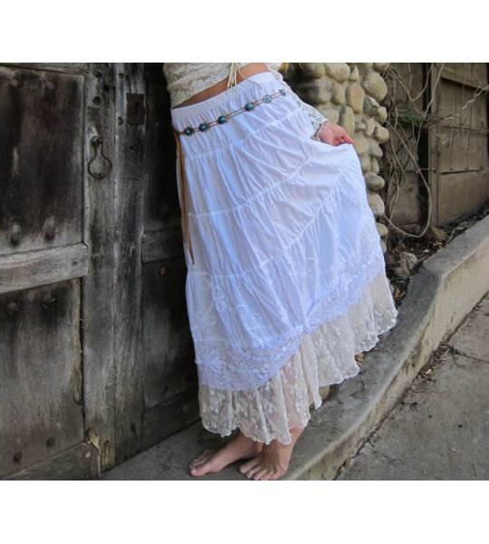 Western Petticoat Lace Skirt by Marrika Nakk